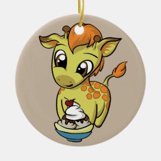 Süße Leckerei! Giraffe Keramik Ornament