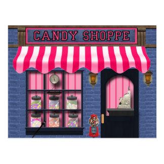 Süße Leckereipostkarte SüßigkeitShoppe Postkarte