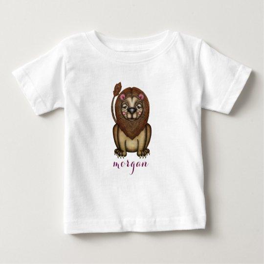 Süße Löwe-Grafik Baby T-shirt