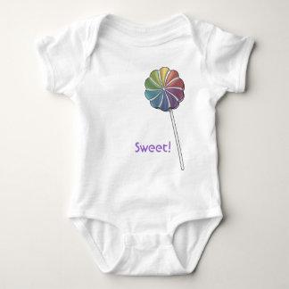 Süße Lutscher-Süßigkeit Baby Strampler