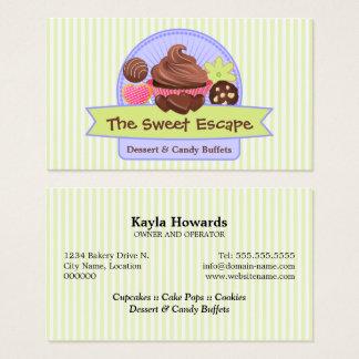 Süße Nachtisch-Visitenkarten Visitenkarte