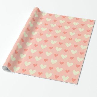 Süße niedliche Liebe-Herz-nahtloses Muster Geschenkpapier