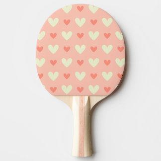 Süße niedliche Liebe-Herz-nahtloses Muster Tischtennis Schläger
