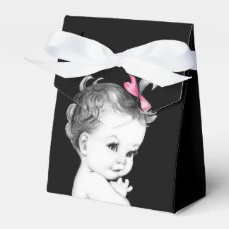 Süße rosa und schwarze geschenkkarton