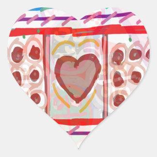 Süße Schokoladen des Schatz-n: SCHERZT Kunst Herz-Aufkleber