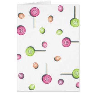 Süße Süßigkeit Notecard Karte