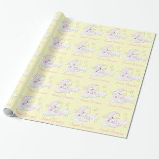 Süße Traum-Babyparty Einpackpapier