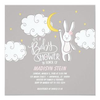 """""""Süße Traum-"""" Häschen-Babyparty-Einladung Karte"""