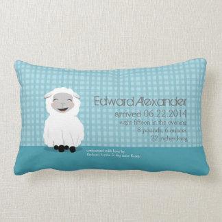 Süße Traum-Lamm-blaues personalisiertes Kissen