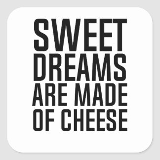 süße Träume Quadratischer Aufkleber
