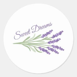 Süße Träume Runder Aufkleber
