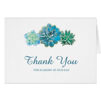 Süße TrioSucculents | danken Ihnen Karte