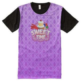 Süße Zeit lila aller DruckT - Shirt