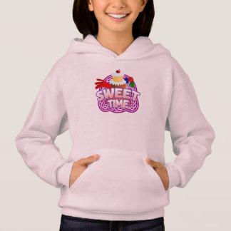 Süße Zeit-Mädchen erblassen - rosa mit Kapuze Hoodie