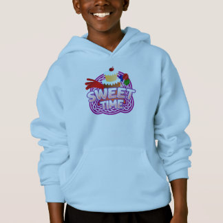 Süße Zeit scherzt hellblaues mit Kapuze Sweatshirt