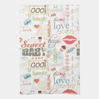 Süßer Baby-Text-Entwurf Ihre Farbe ID237 Küchentuch