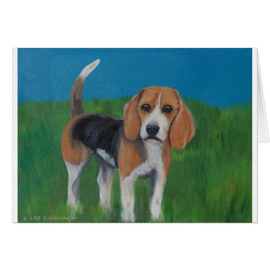 Süsser Beagle Karte