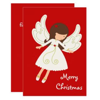 """Süßer Engels-""""frohe Weihnacht-"""" Feiertag Karte"""