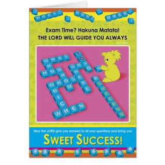 Süßer Erfolg Grußkarte