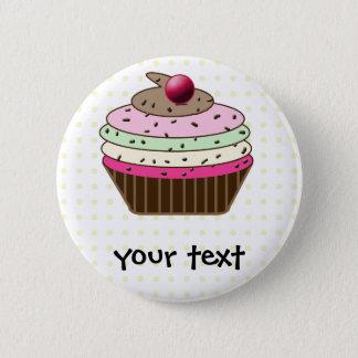 Süßer kleiner Kuchen Runder Button 5,1 Cm