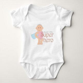 Süßer kleiner Superheld Jersey-Bodysuit Baby Strampler