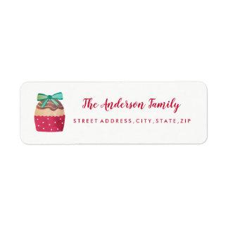 Süßer Kuchen-WeihnachtsRücksendeadresse-Aufkleber