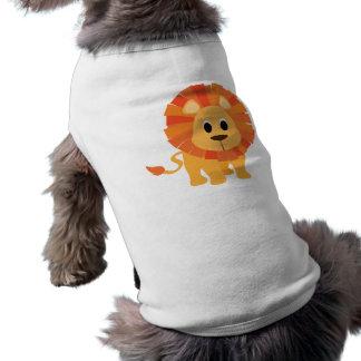Süßer Löwe Ärmelfreies Hunde-Shirt