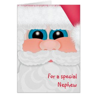 Süßer Neffe am Weihnachtsspaß Sankt stellen Karte