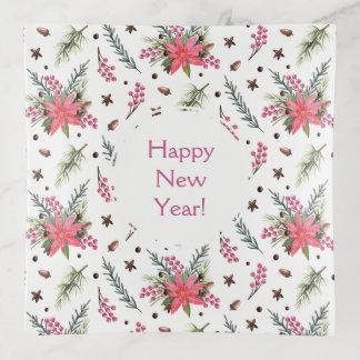Süßer neues Jahr-Muster-Entwurf Dekoschale