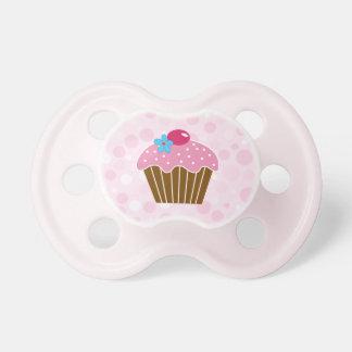 Süßer rosa kleiner Kuchen Schnuller