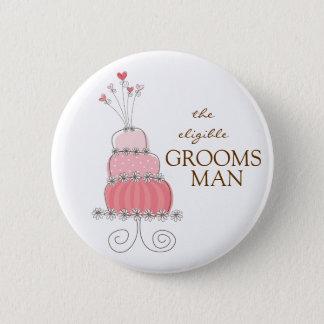 Süßer rosa runder button 5,1 cm