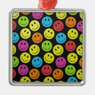 Süßer Smiley Silbernes Ornament
