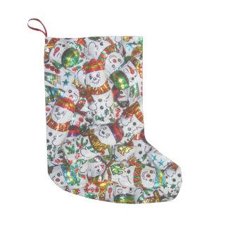 Süßer Snowmen-Strumpf doppelseitig Kleiner Weihnachtsstrumpf