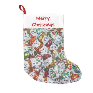 Süßer Strumpf der Snowmen-frohen Weihnachten Kleiner Weihnachtsstrumpf