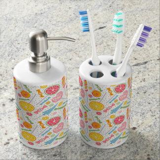 Süßer Zahn (Licht) Badezimmer-Set