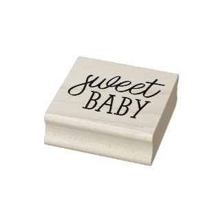 Süßes Baby, Babyparty Gummistempel