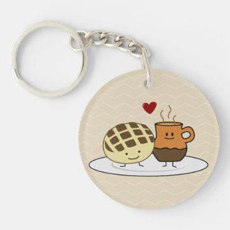 Süßes Brot-und heiße Schokoladen-Pan caliente Schlüsselanhänger