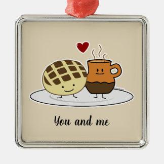 Süßes Brot-und heiße Schokoladen-Pan caliente Silbernes Ornament