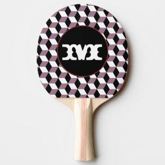 Süßes Erbse, Schwarzes u. weißes 3D berechnet Tischtennis Schläger