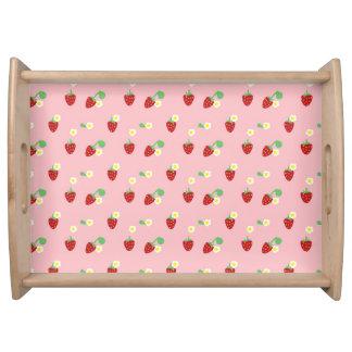 Süßes ErdbeerServiertablett Tablett