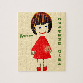 Süßes Heide-Mädchen