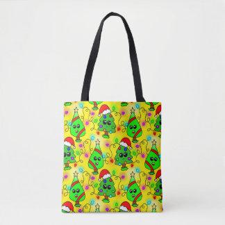 Süßes Kawaii Weihnachtsbaummuster Tasche