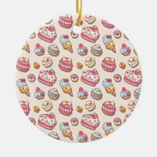 Süßes Muster Keramik Ornament