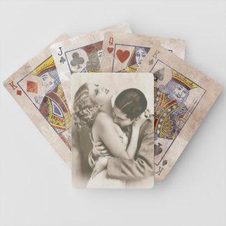 Süßes Paar-Küssen Bicycle Spielkarten