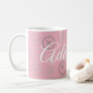 Süßes Rosa beugt Girly Muster-Tasse Kaffeetasse