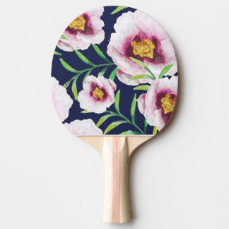 Süßes rosa Vintages Blumenmuster der blauen Tischtennis Schläger