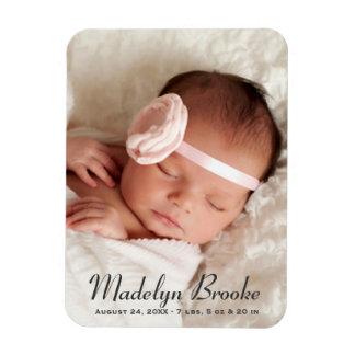 Süßes Skript der Foto-Geburts-Mitteilungs-| Magnet