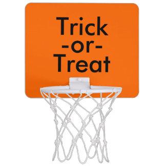 Süßes sonst gibt's Saures schwarzes u. orange Mini Basketball Netz