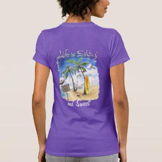 Süßes surfendes Art-Shirt für sie bis zum dem T-Shirt