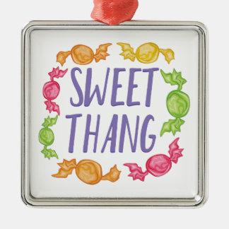 Süßes Thang Silbernes Ornament